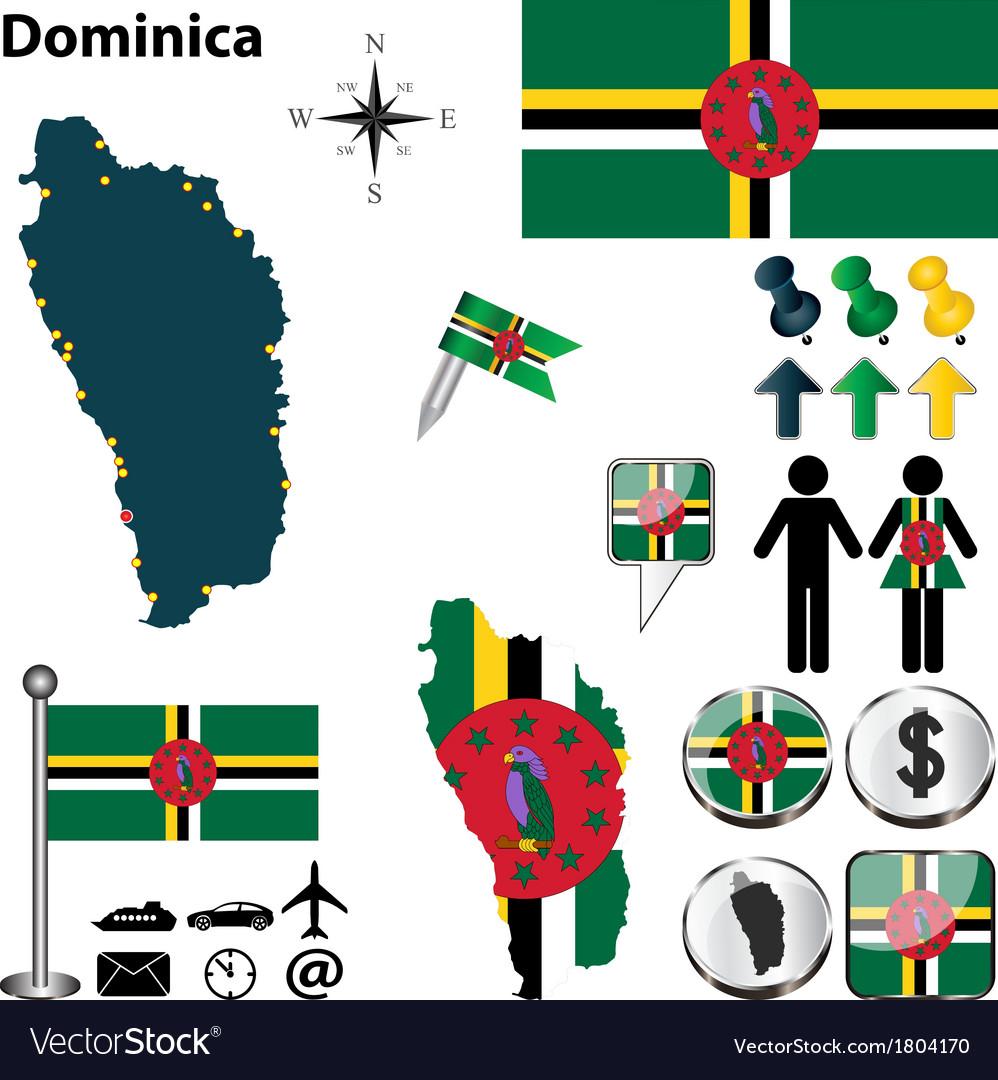 Dominica map vector   Price: 1 Credit (USD $1)
