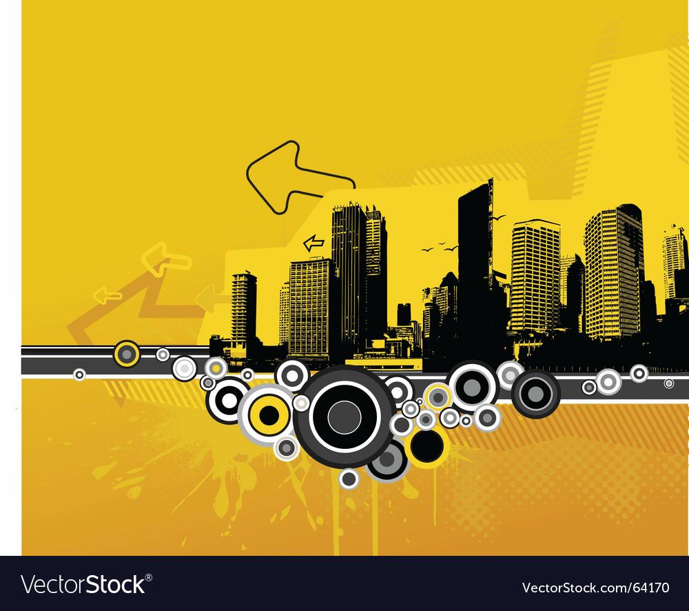 Grunge cityscape vector | Price: 1 Credit (USD $1)