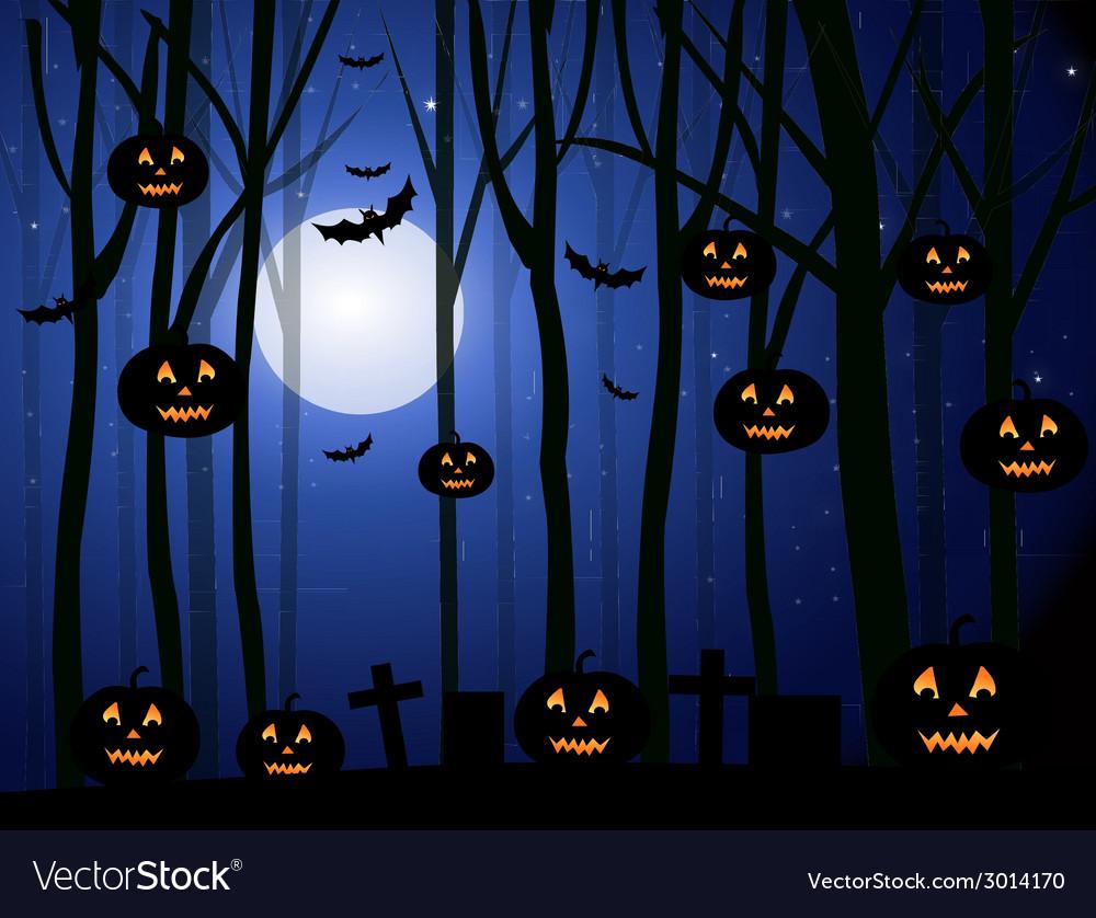 Horror halloween background- vector | Price: 1 Credit (USD $1)