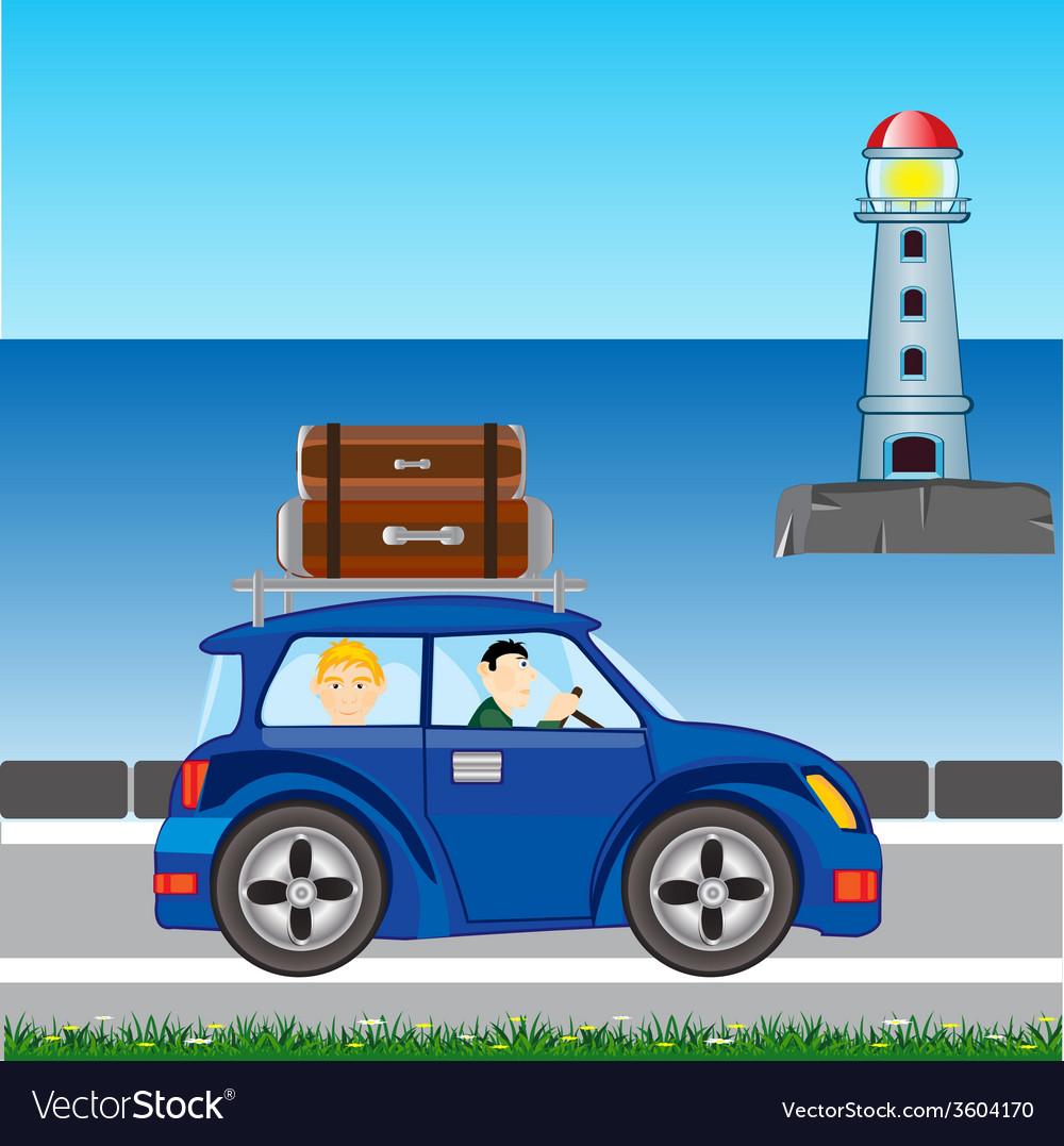 In furlough on car vector   Price: 1 Credit (USD $1)
