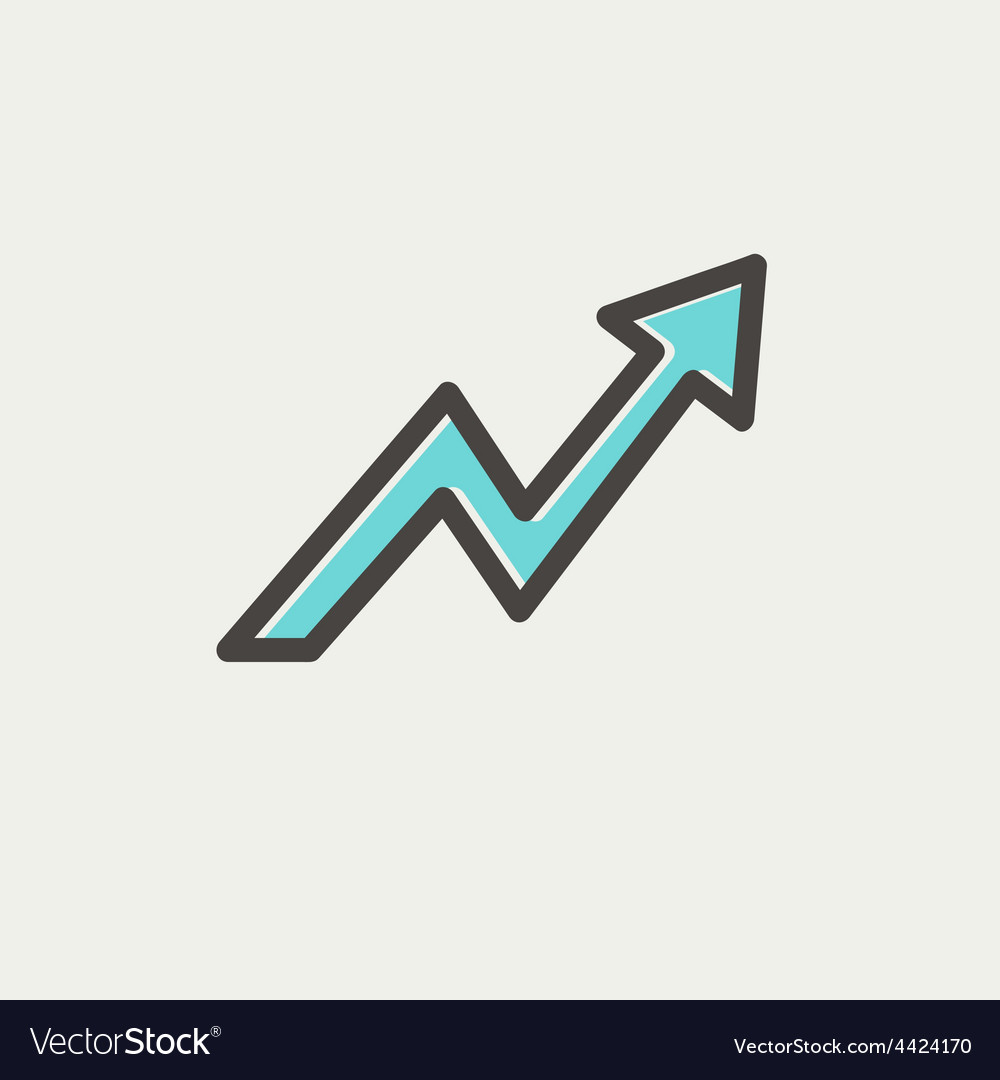 Lightning arrow upward thin line icon vector | Price: 1 Credit (USD $1)