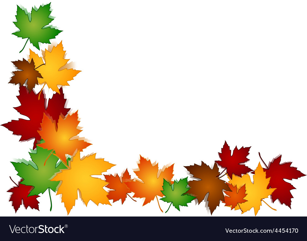 Maple leaves colorful border vector | Price: 1 Credit (USD $1)