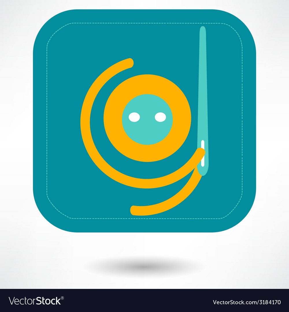 Needle and thread icon vector | Price: 1 Credit (USD $1)