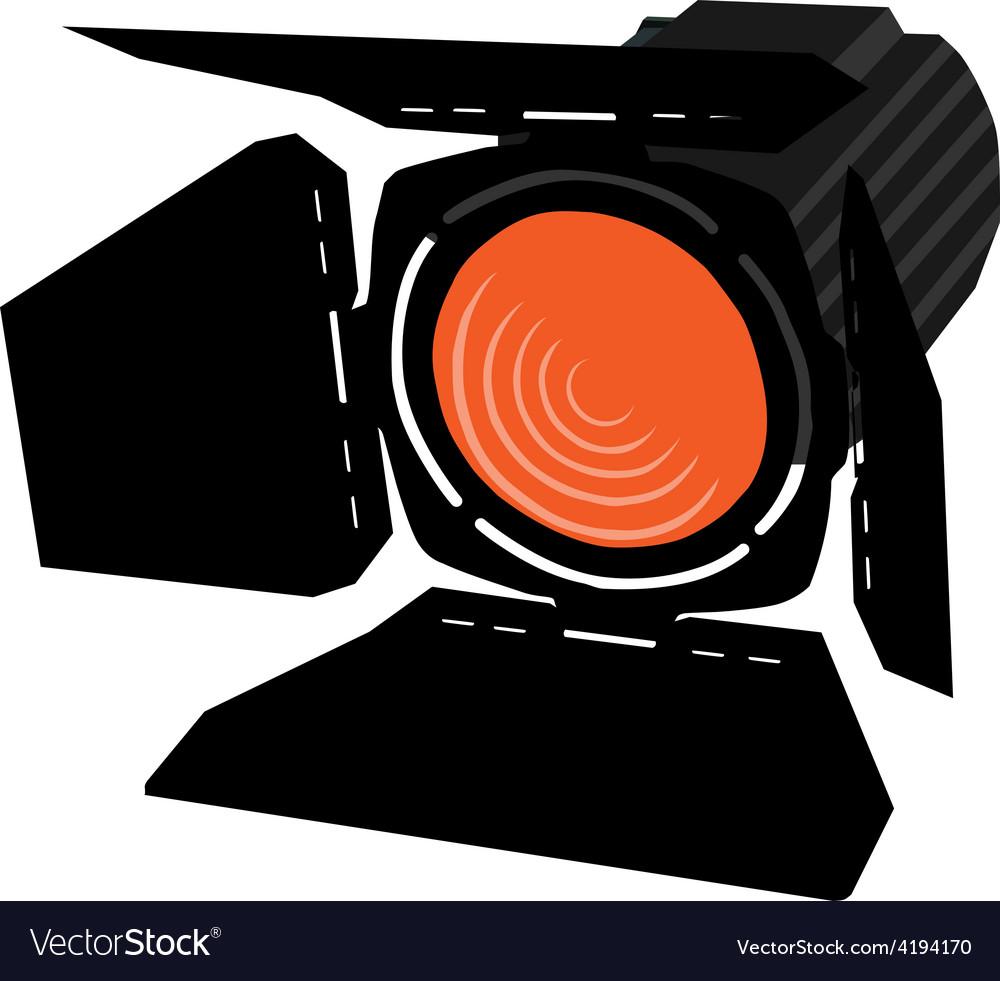 Orange spotlight vector | Price: 1 Credit (USD $1)