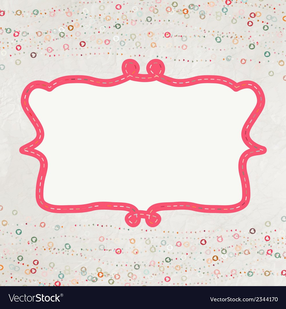 Valentine card with placeholder eps 8 vector | Price: 1 Credit (USD $1)