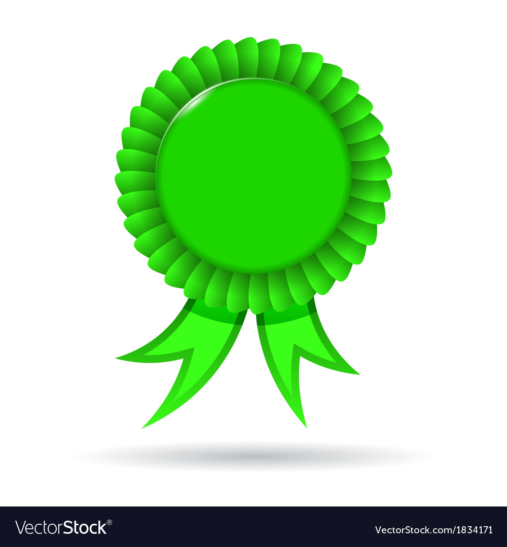 Award green ribbon vector | Price: 1 Credit (USD $1)