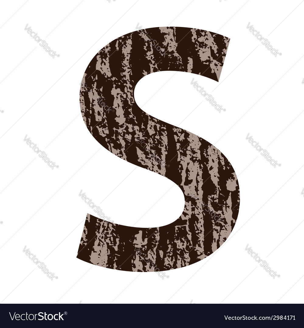 Bark letter s vector | Price: 1 Credit (USD $1)