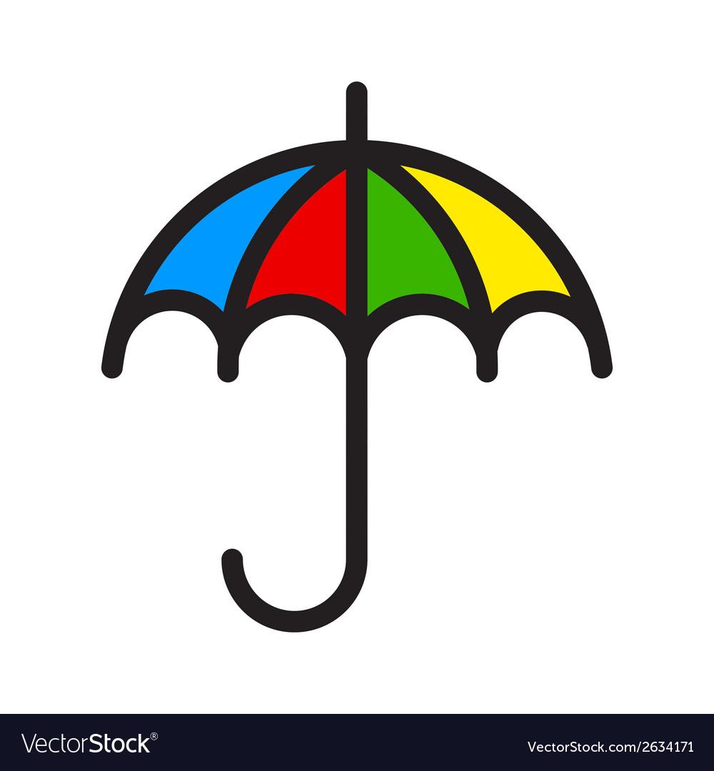 Color umbrella vector | Price: 1 Credit (USD $1)