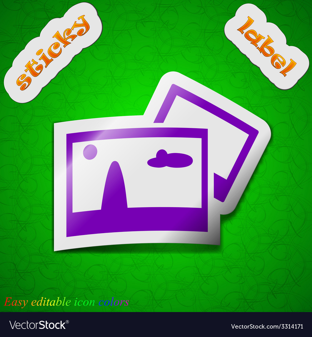 Copy file jpg icon sign symbol chic colored sticky vector | Price: 1 Credit (USD $1)