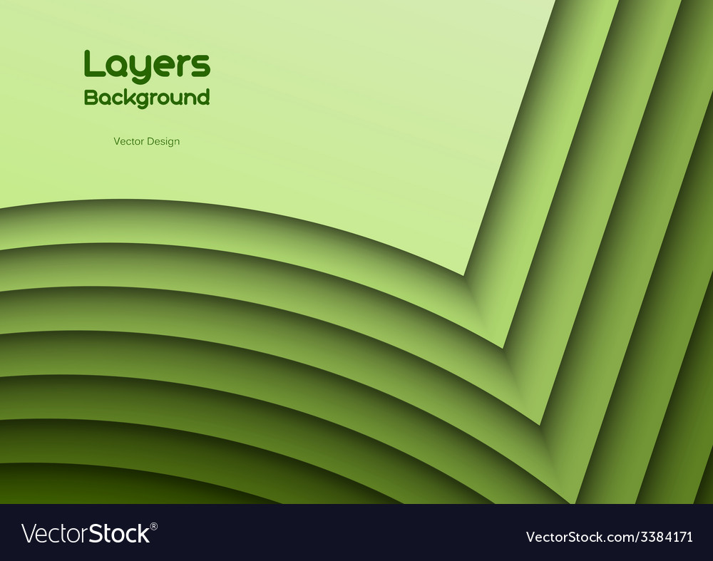 Green layeres vector | Price: 1 Credit (USD $1)