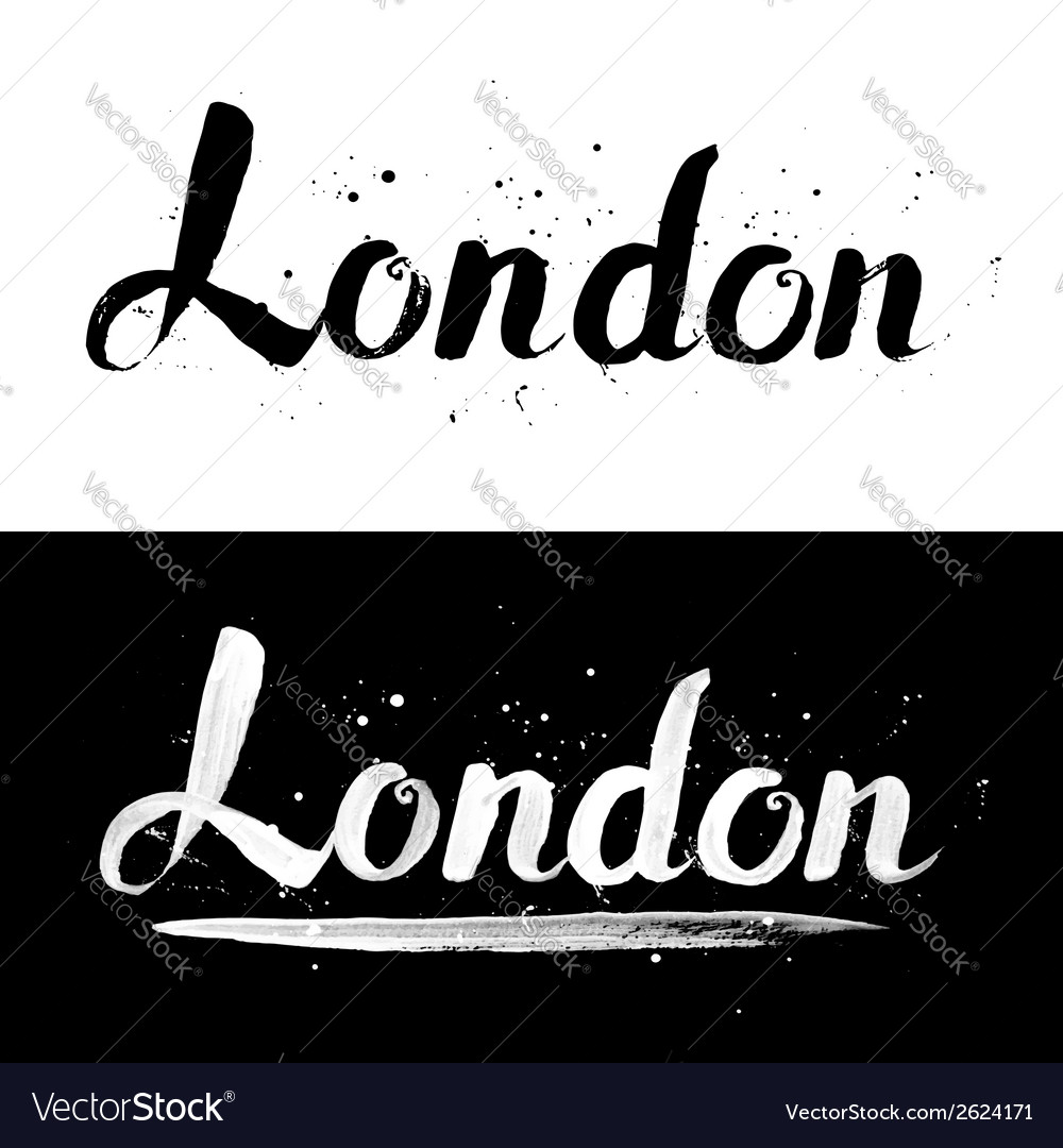 London calligraphy hand-drawn signs vector | Price: 1 Credit (USD $1)