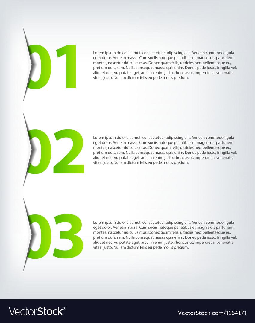 One two three - progress icons vector | Price: 1 Credit (USD $1)