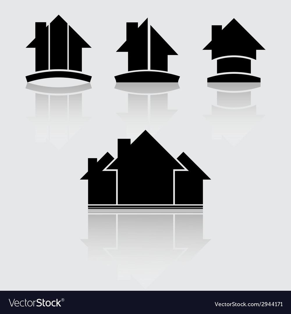 Real estate black vector | Price: 1 Credit (USD $1)
