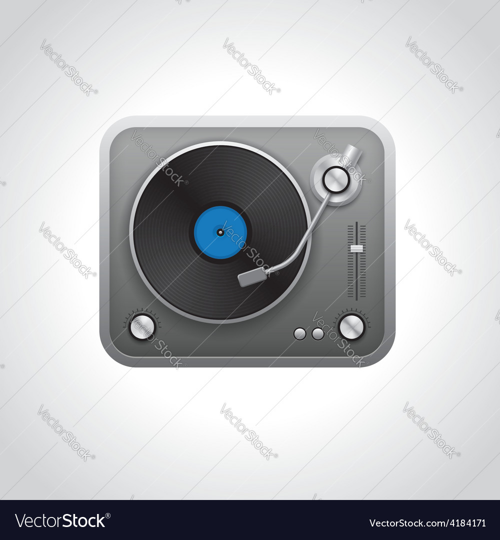 Realistic turntable vector | Price: 1 Credit (USD $1)