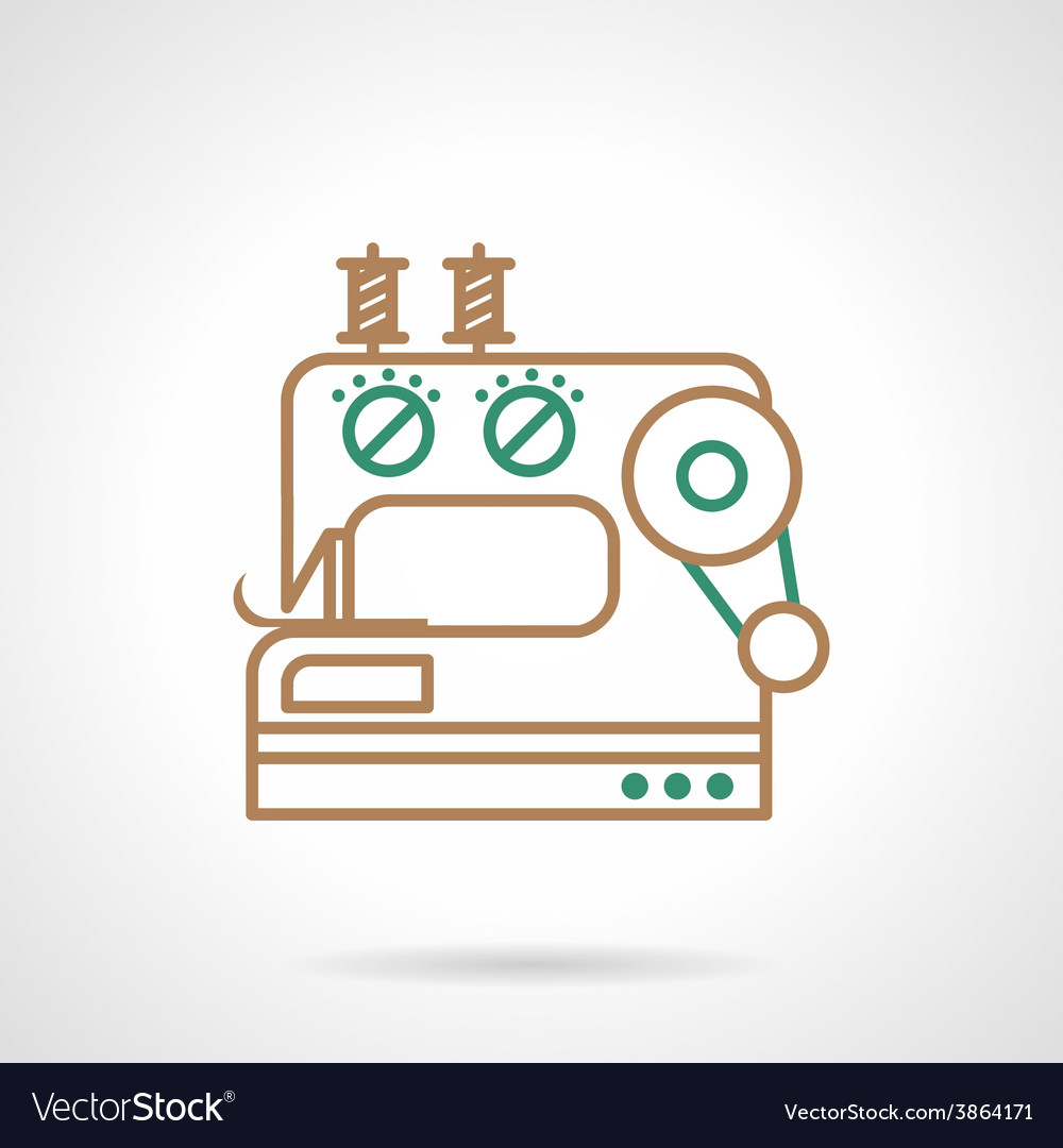 Sewing machine flat line icon vector | Price: 1 Credit (USD $1)