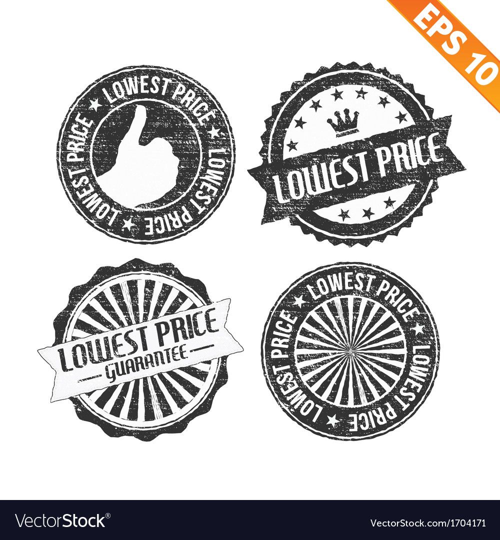 Stamp sticker lowest price collection - - e vector | Price: 1 Credit (USD $1)