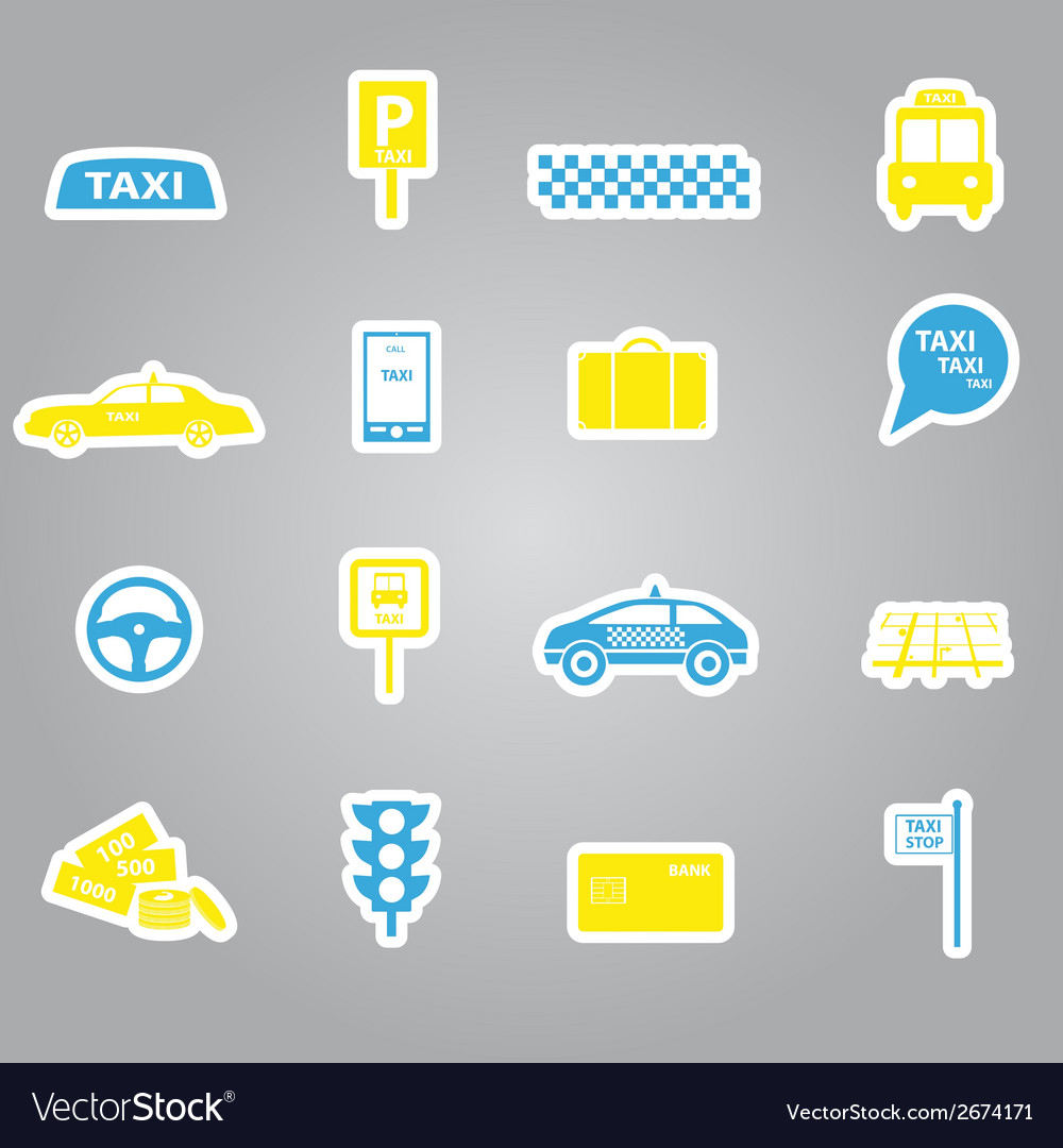 Taxi stickers set eps10 vector | Price: 1 Credit (USD $1)