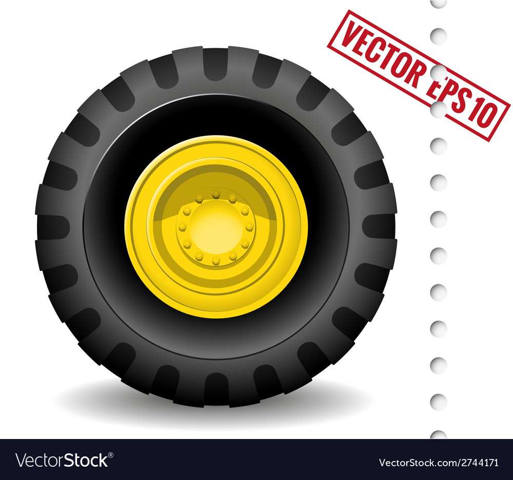 Tractor wheel vector | Price: 1 Credit (USD $1)