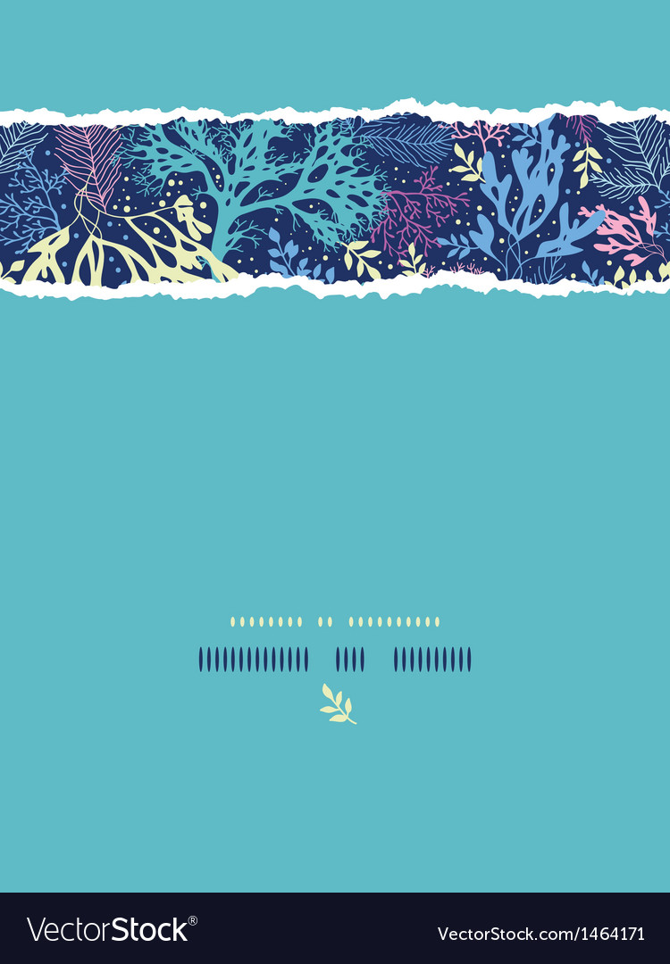 Underwater seaweed vertical torn seamless pattern vector   Price: 1 Credit (USD $1)