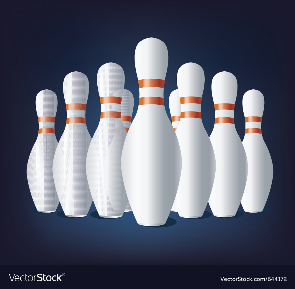 Bowling pins vector | Price: 1 Credit (USD $1)