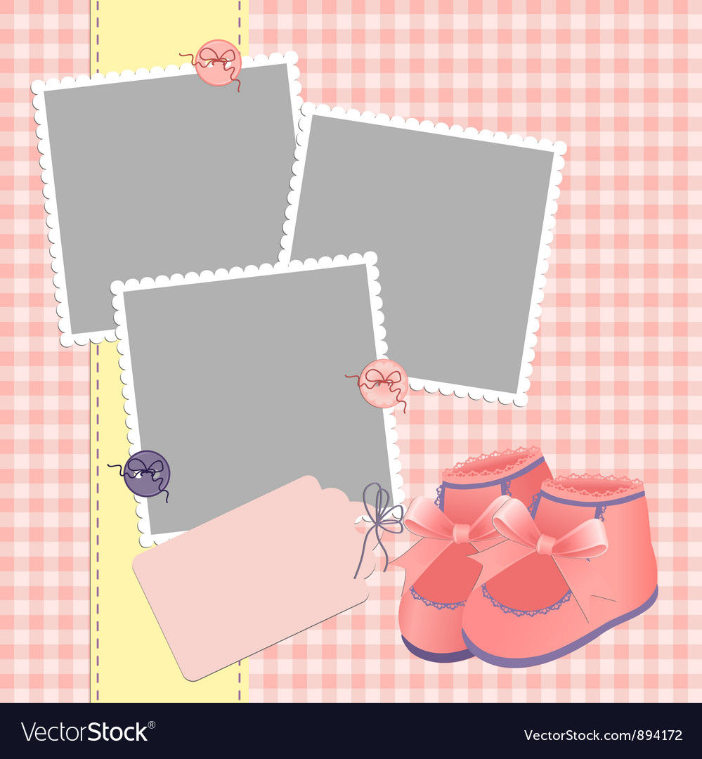 Cute template for babys card vector | Price: 1 Credit (USD $1)
