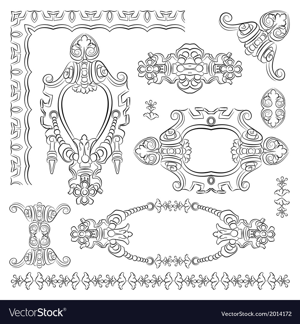 Design heraldic element vector | Price: 1 Credit (USD $1)