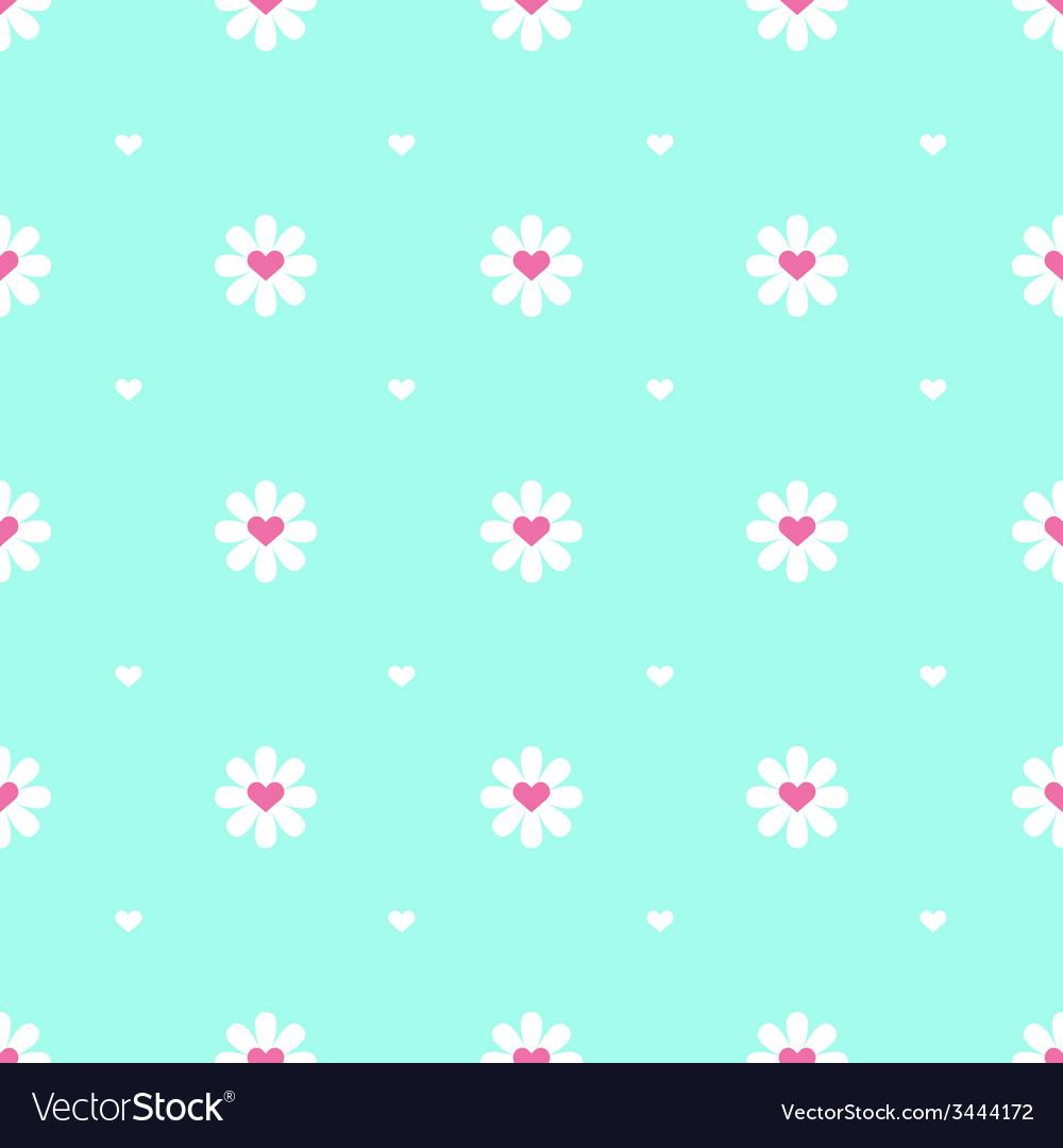 Flat minimalistic camomile seamless pattern vector | Price: 1 Credit (USD $1)