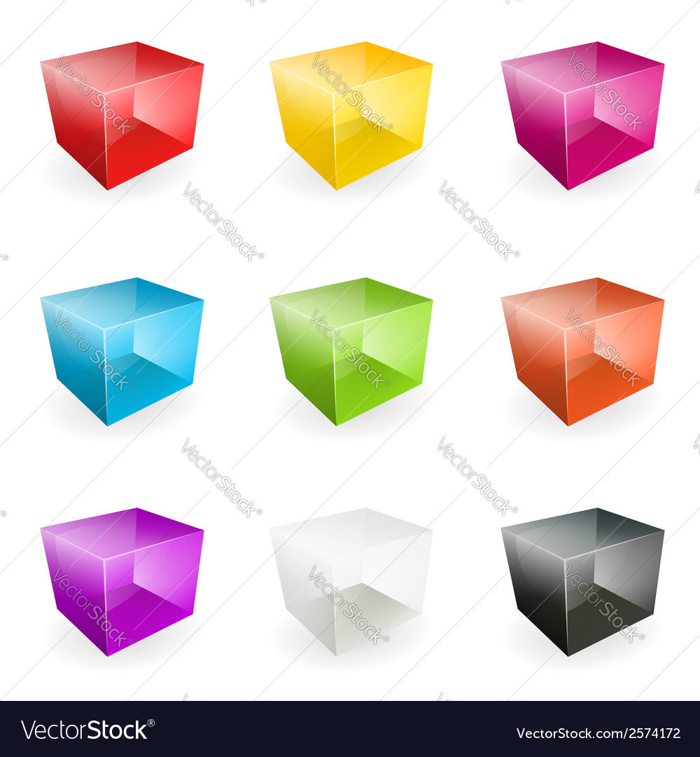 Glass cubes vector   Price: 1 Credit (USD $1)