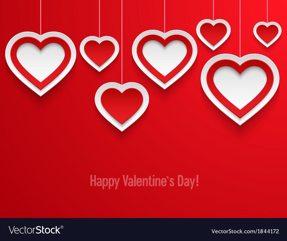 Hanging valentines hearts vector | Price: 1 Credit (USD $1)