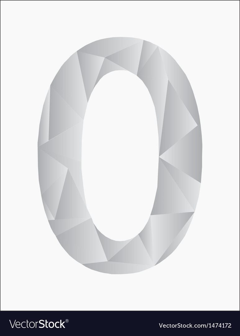Number zero on a white background vector | Price: 1 Credit (USD $1)