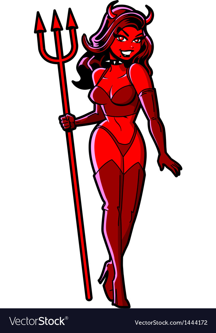 Sexy devil girl vector | Price: 1 Credit (USD $1)