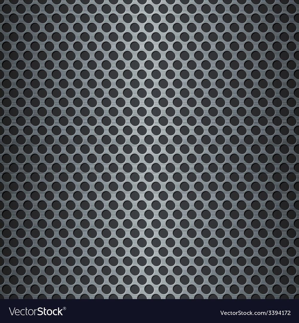 Silver metallic grid background vector | Price: 1 Credit (USD $1)