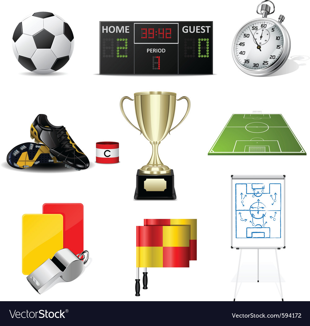 Soccer icons vector | Price: 5 Credit (USD $5)