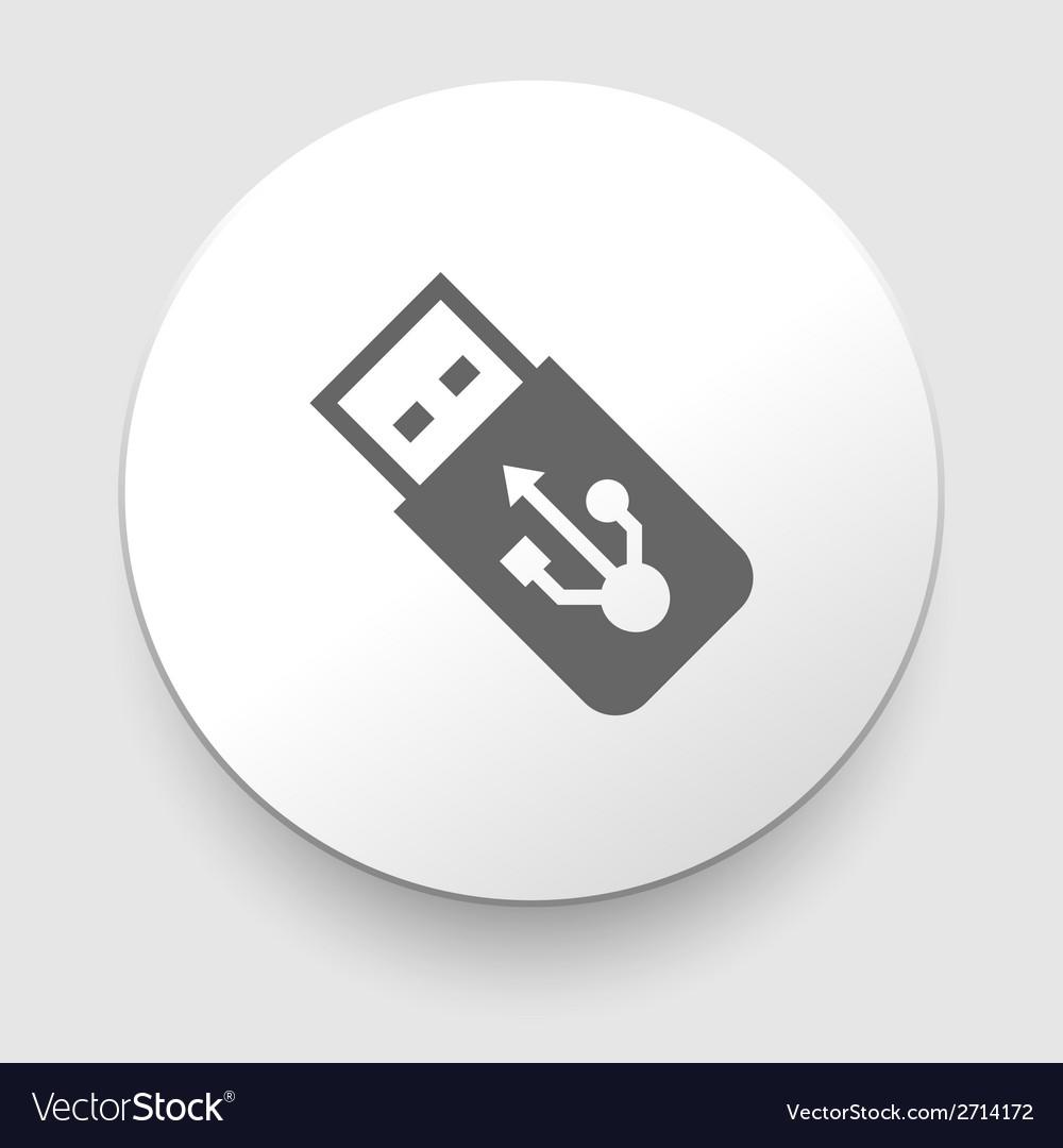 Usb flash drive icon vector | Price: 1 Credit (USD $1)