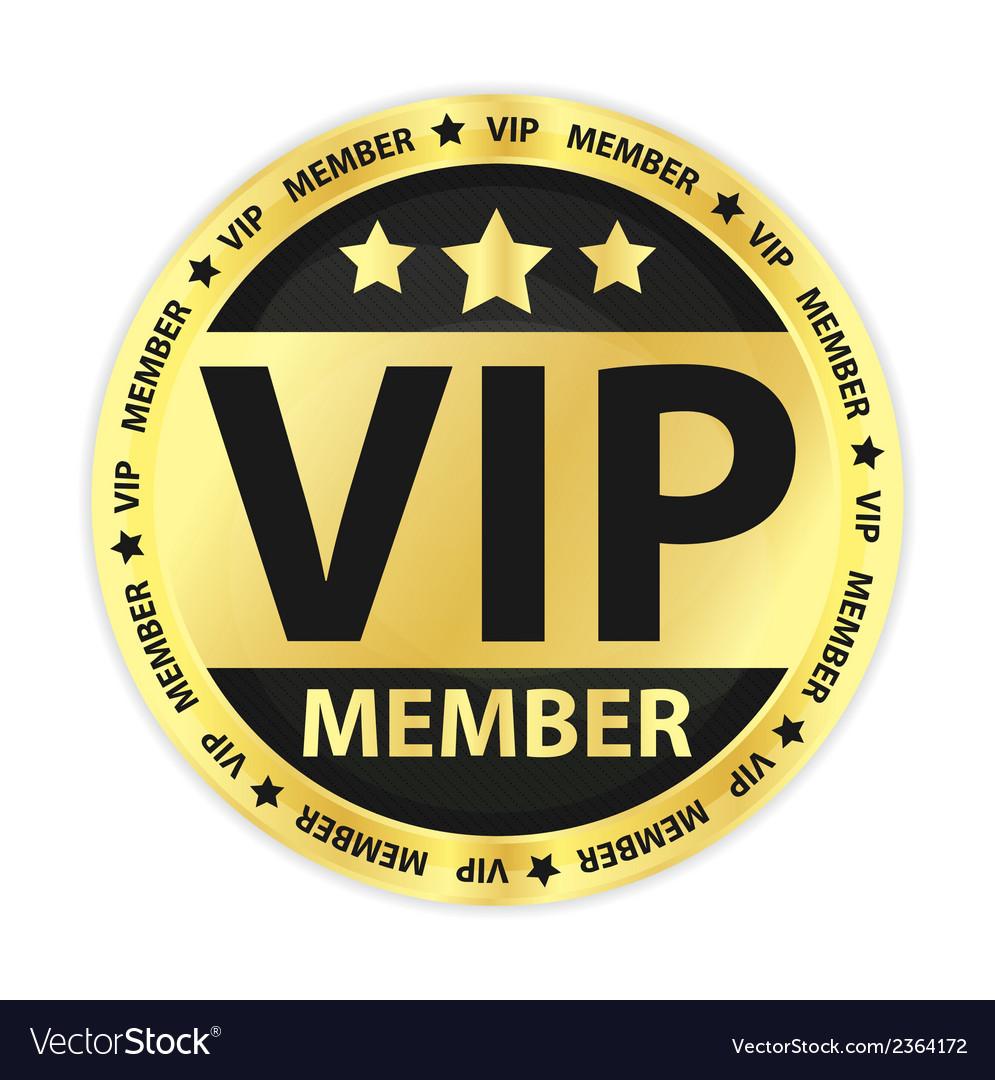 Vip member golden label vector | Price: 1 Credit (USD $1)