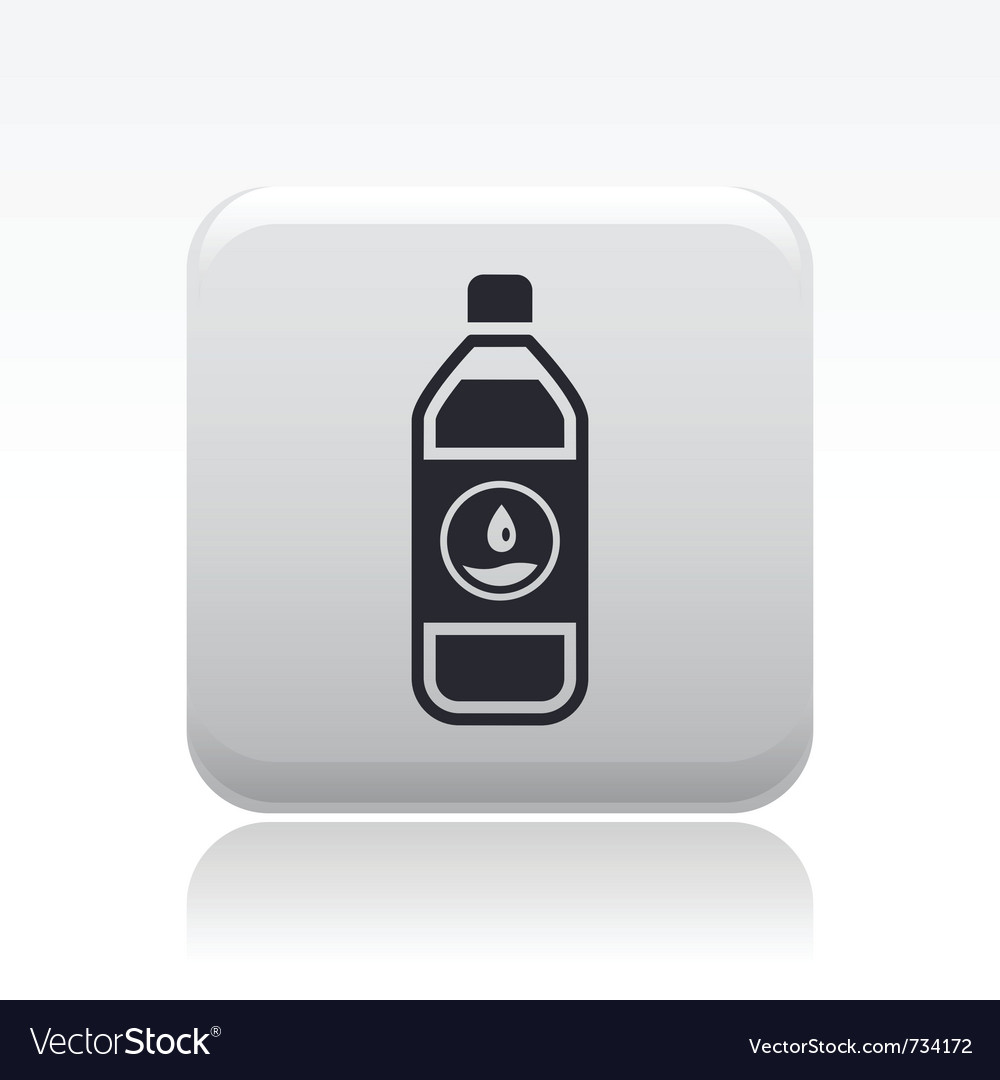 Water bottle icon vector | Price: 1 Credit (USD $1)