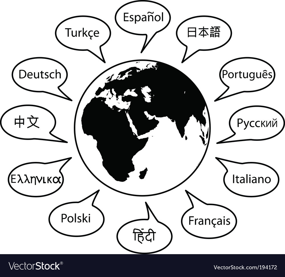 World language vector | Price: 1 Credit (USD $1)