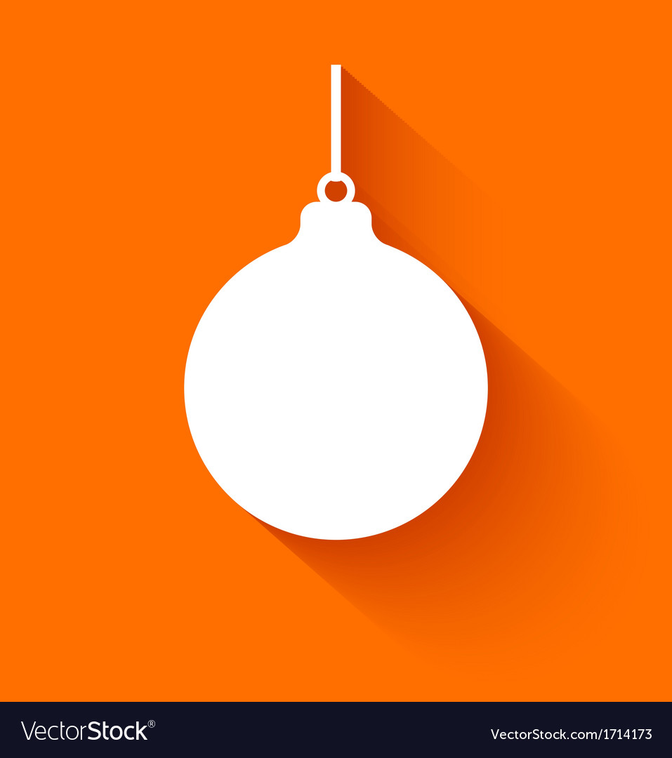 Abstract christmas ball on orange background vector | Price: 1 Credit (USD $1)