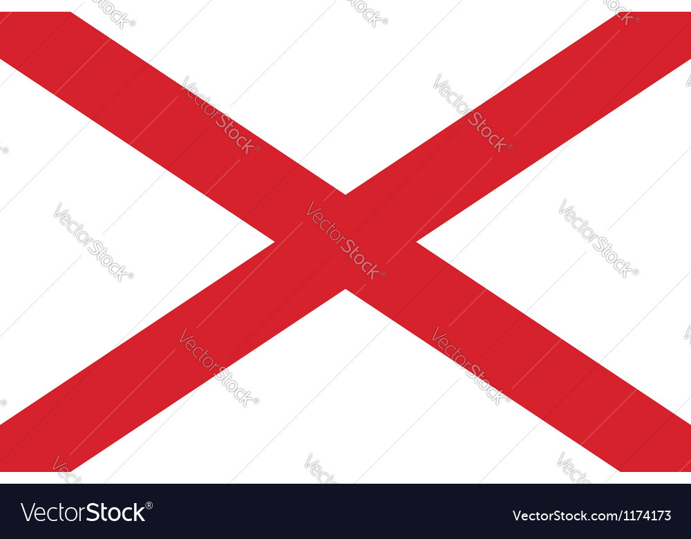 Alabama flag vector | Price: 1 Credit (USD $1)
