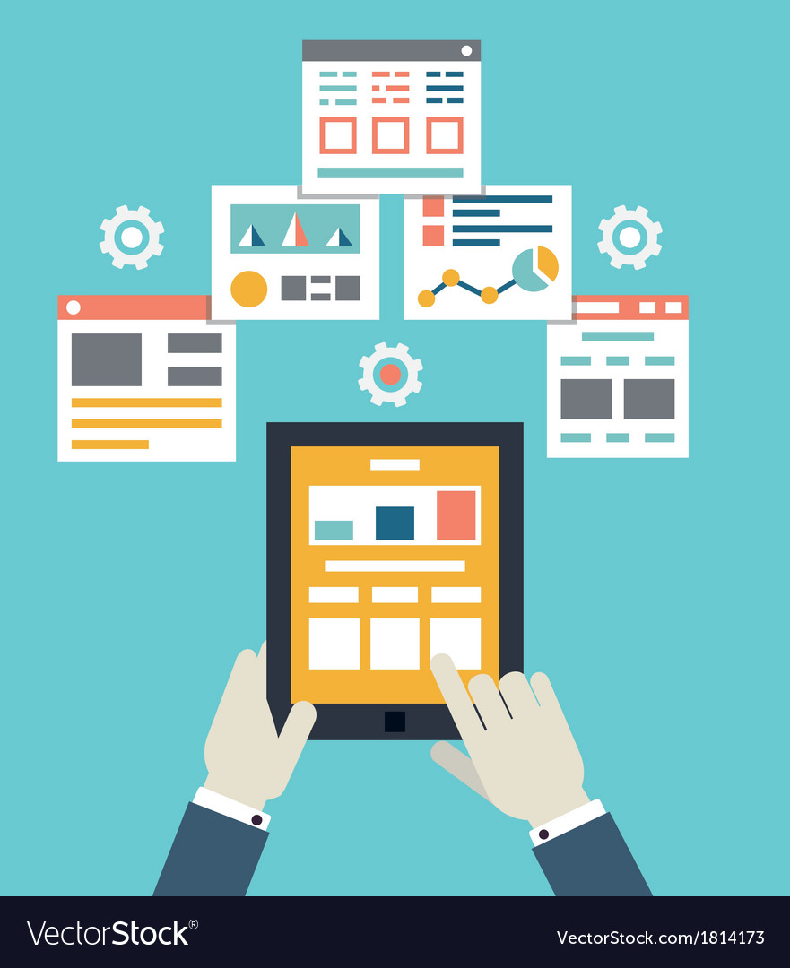 Flat mobile application optimization programming vector   Price: 1 Credit (USD $1)