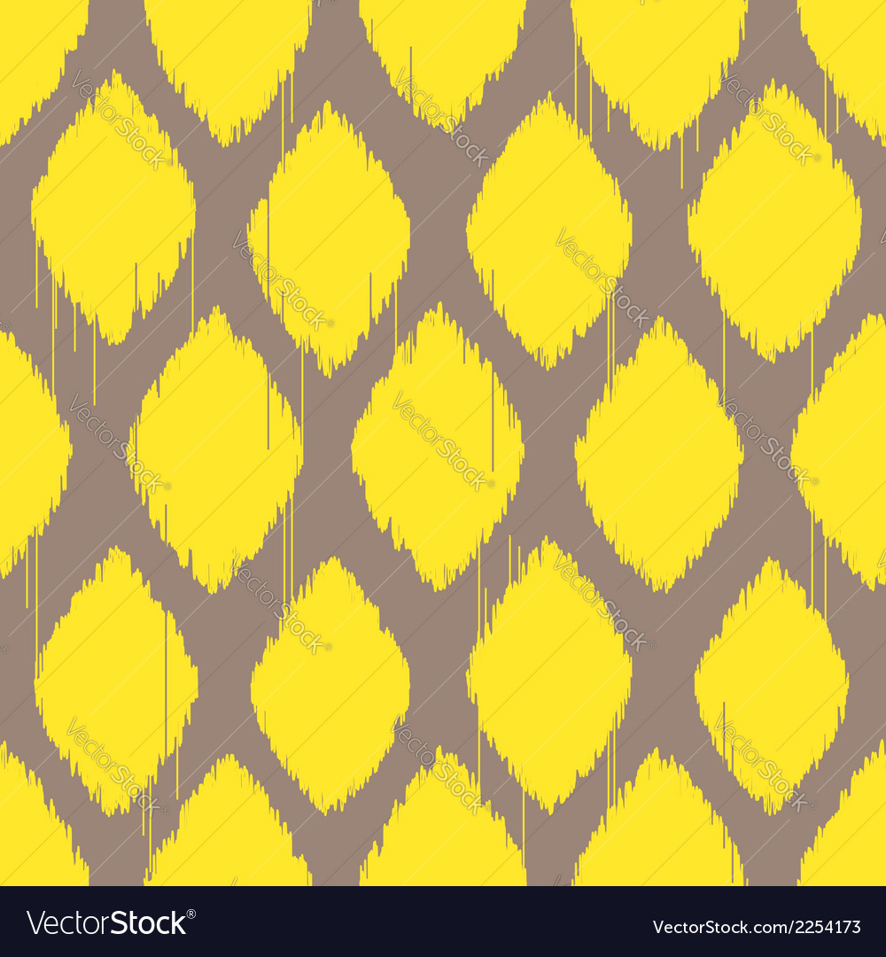 Ikat lemon yellow pattern vector | Price: 1 Credit (USD $1)