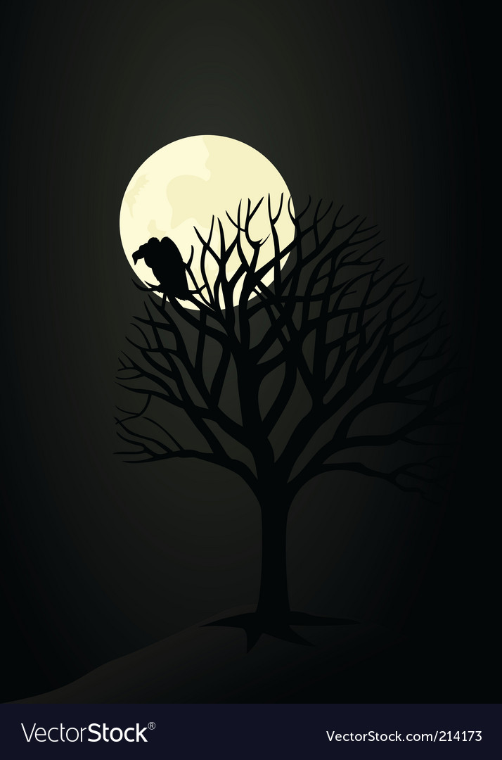 Lonely tree vector | Price: 1 Credit (USD $1)