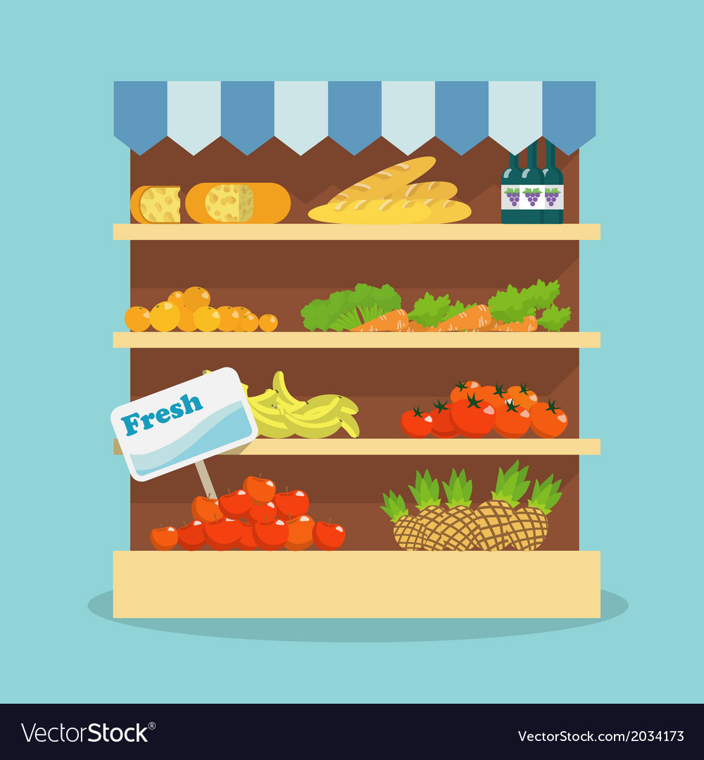 Supermarket food collection vector | Price: 1 Credit (USD $1)