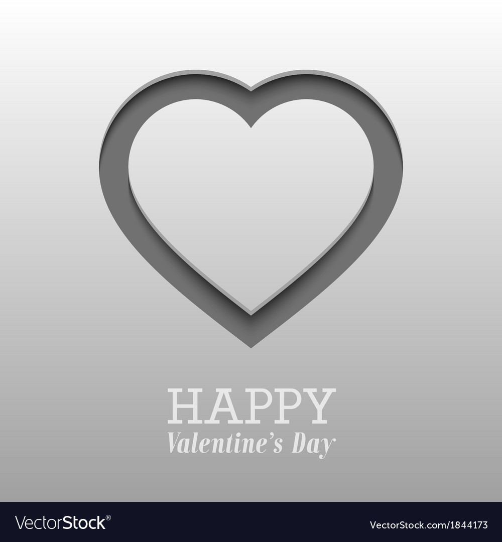 Valentines day card with heart vector | Price: 1 Credit (USD $1)