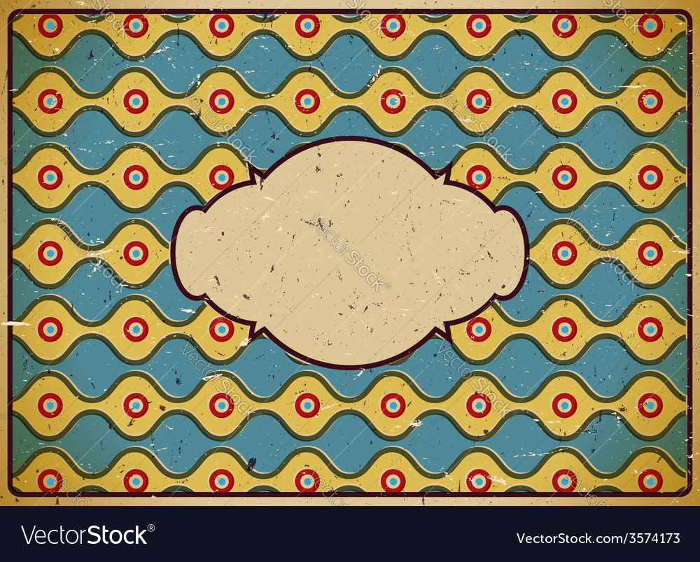 Vintage cardboard frame with circles vector   Price: 1 Credit (USD $1)
