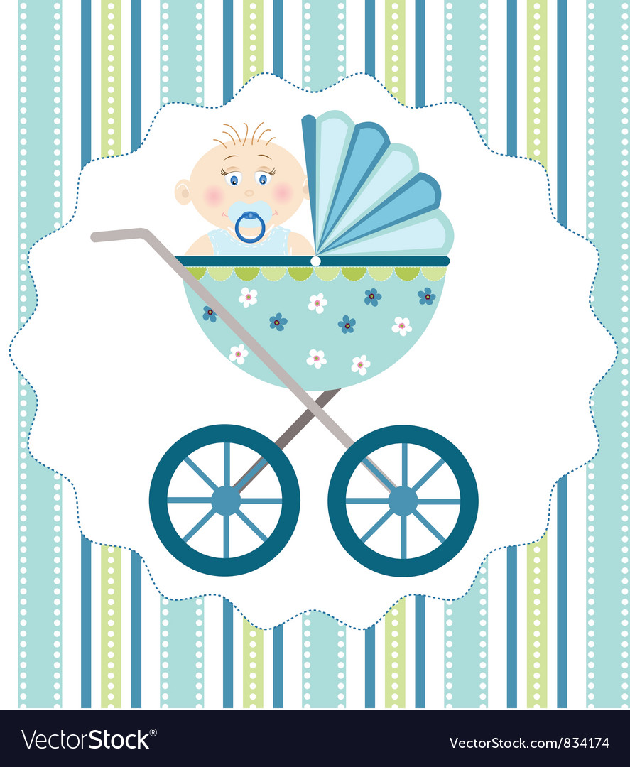 Baby boy arrival vector | Price: 1 Credit (USD $1)