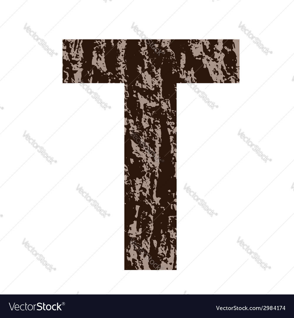 Bark letter t vector | Price: 1 Credit (USD $1)
