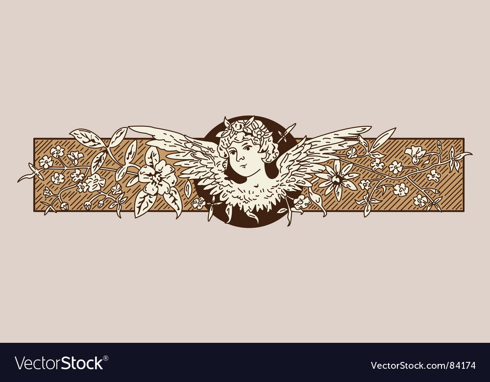 Baroque angel vector | Price: 1 Credit (USD $1)