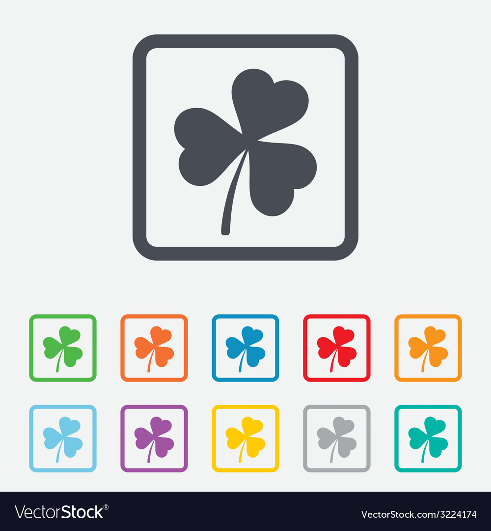 Clover with three leaves sign stpatrick symbol vector | Price: 1 Credit (USD $1)