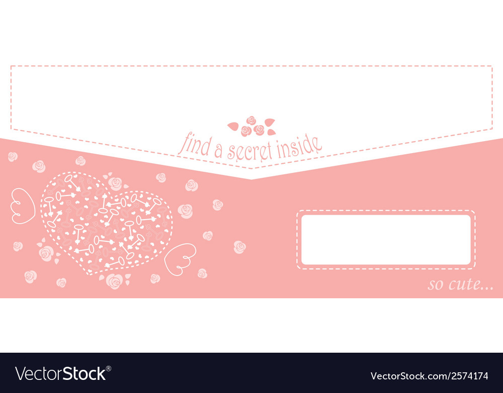 Cute design for greeting card or envelope with vector | Price: 1 Credit (USD $1)
